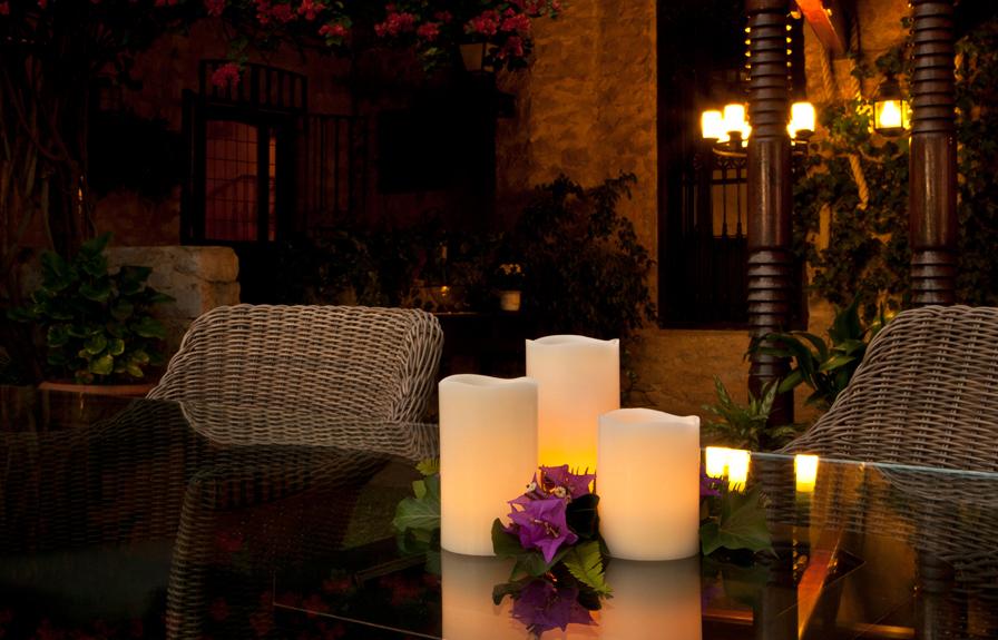 Velas de cera natural con iluminaci n led latorre decoraci n for Decoracion iluminacion