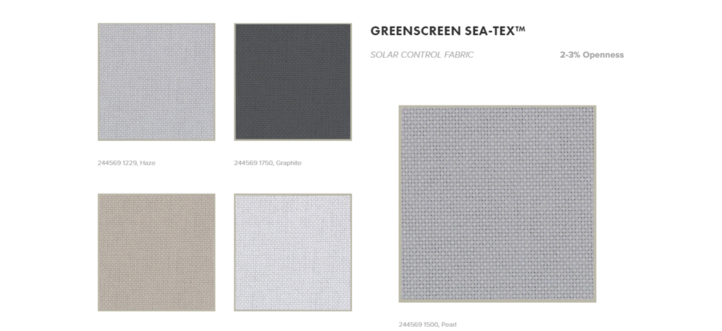 Greenscreen Sea Tex Hunter Douglas Luxaflex
